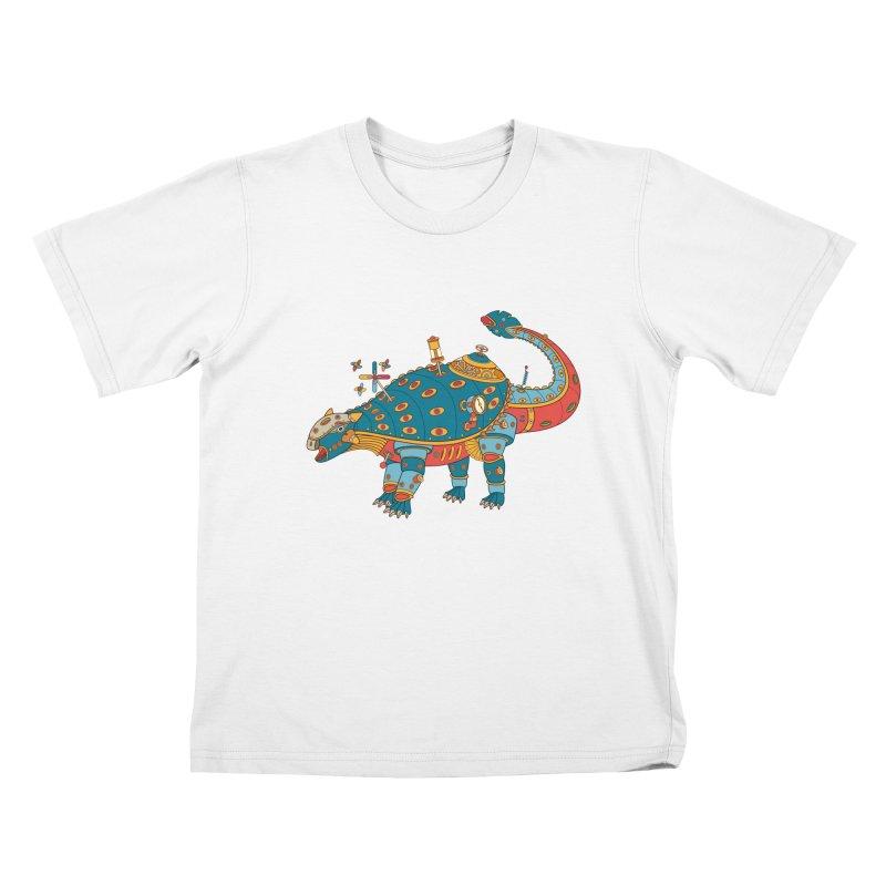 Dinosaur, cool art from the AlphaPod Collection Kids T-Shirt by AlphaPod