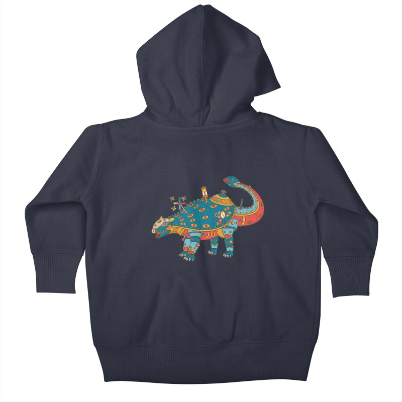 Dinosaur, cool wall art for kids and adults alike Kids Baby Zip-Up Hoody by AlphaPod