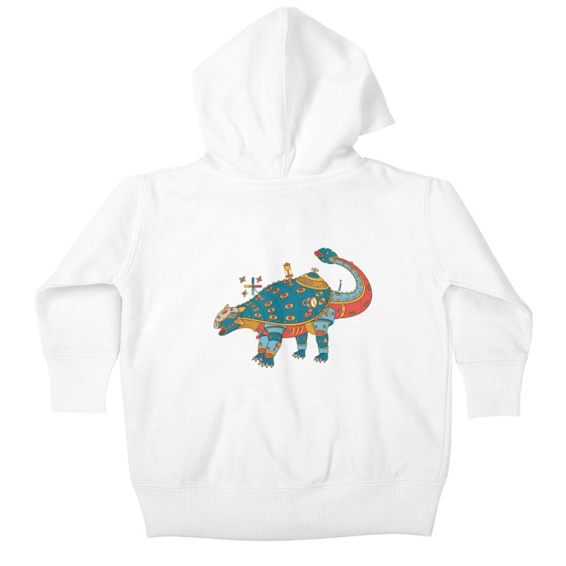 Dinosaur, cool art from the AlphaPod Collection Kids Baby Zip-Up Hoody by AlphaPod