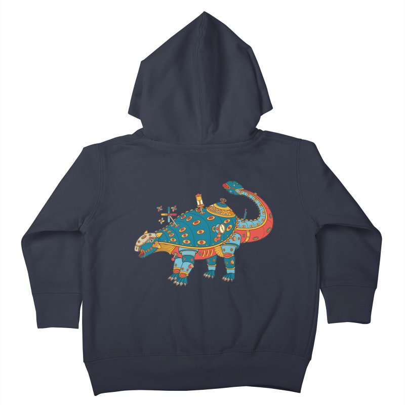 Dinosaur, cool art from the AlphaPod Collection Kids Toddler Zip-Up Hoody by AlphaPod