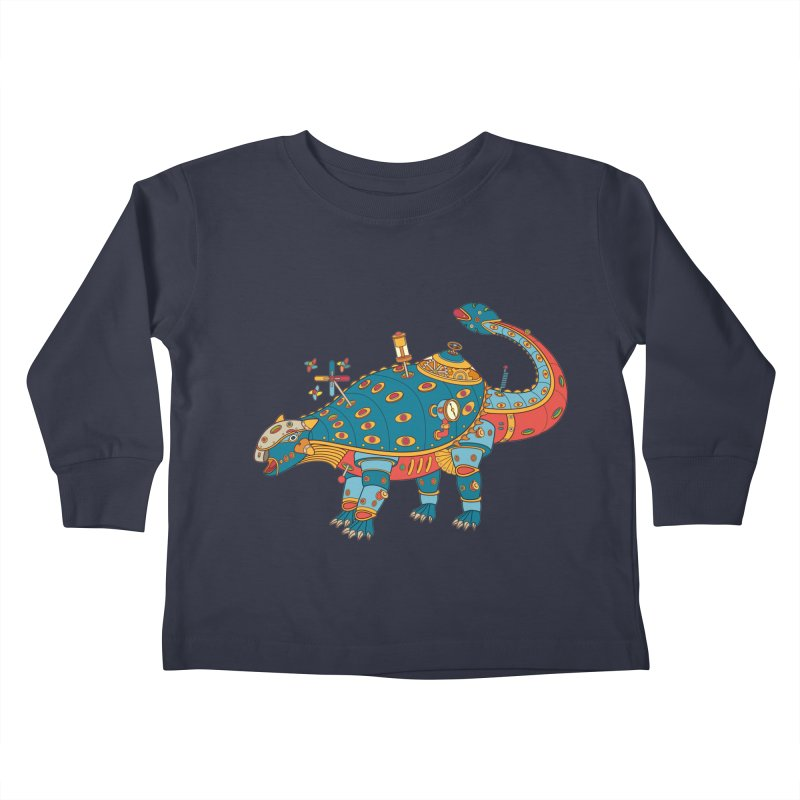 Dinosaur, cool wall art for kids and adults alike Kids Toddler Longsleeve T-Shirt by AlphaPod