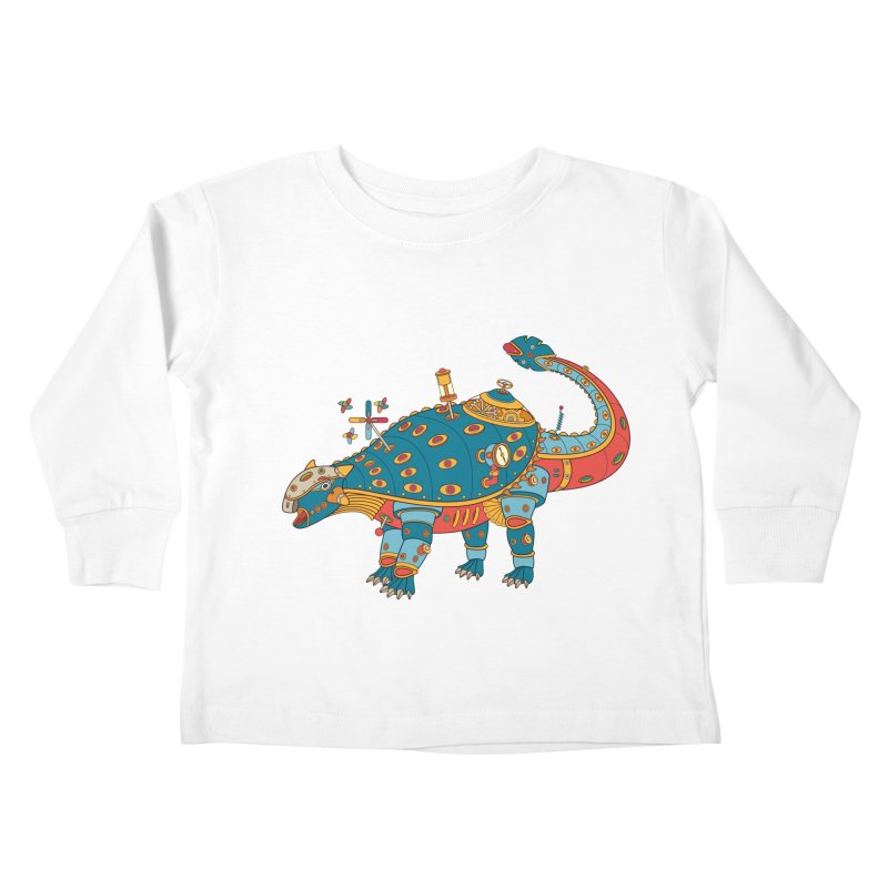Dinosaur, cool art from the AlphaPod Collection Kids Toddler Longsleeve T-Shirt by AlphaPod
