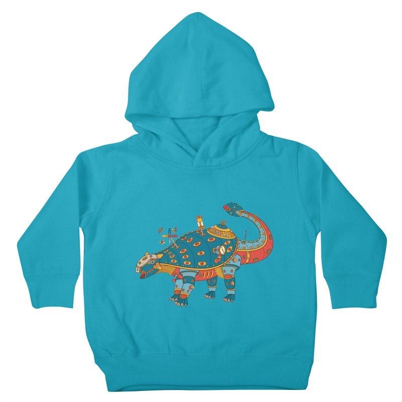 Dinosaur, cool art from the AlphaPod Collection Kids Toddler Pullover Hoody by AlphaPod