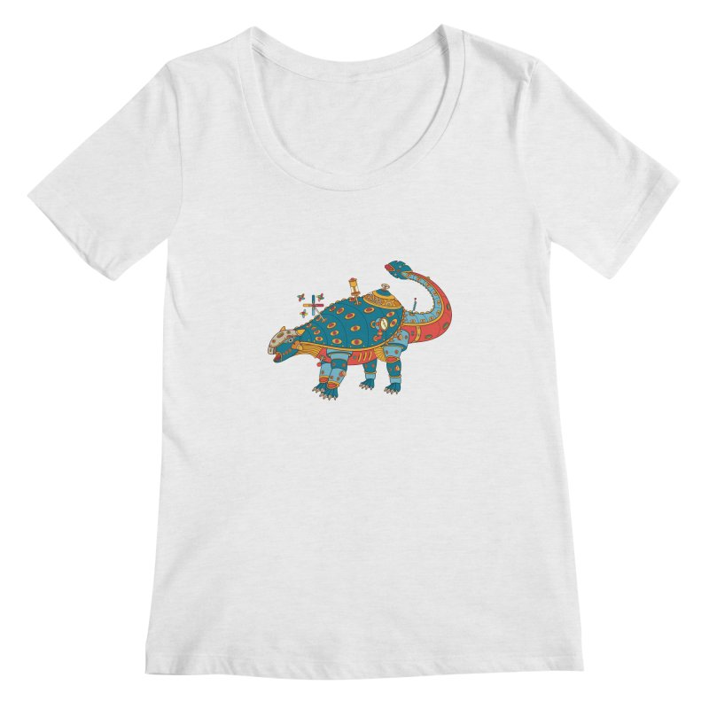 Dinosaur, cool art from the AlphaPod Collection Women's Regular Scoop Neck by AlphaPod