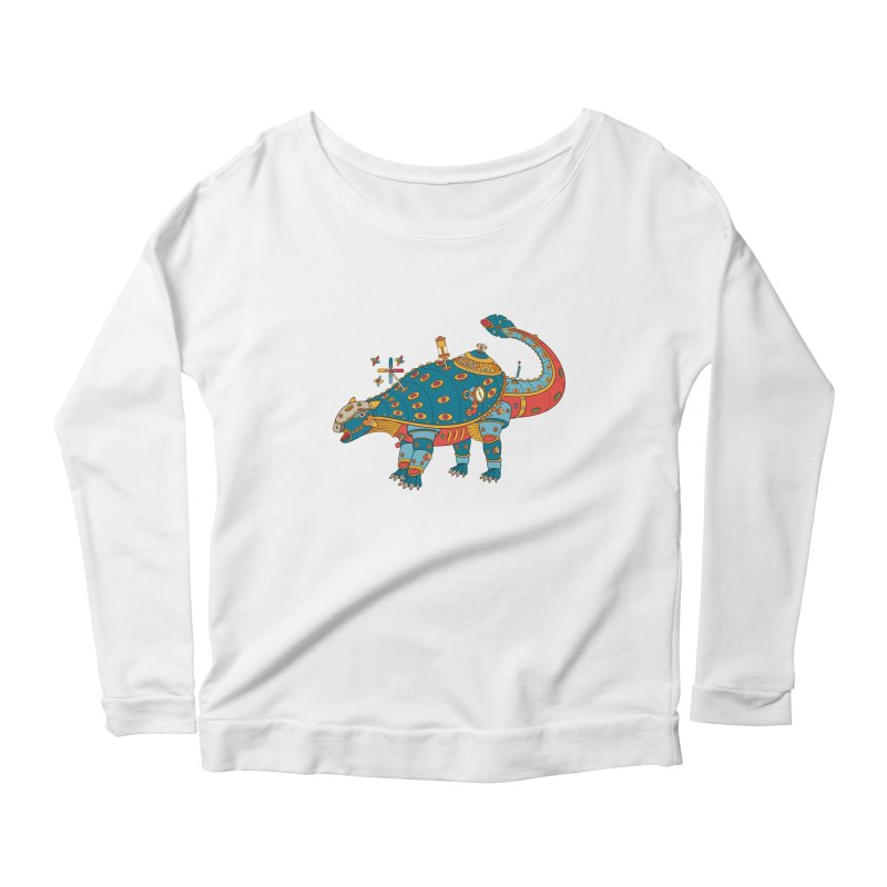Dinosaur, cool art from the AlphaPod Collection Women's Scoop Neck Longsleeve T-Shirt by AlphaPod