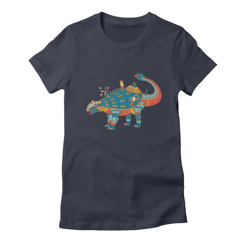 Dinosaur, cool art from the AlphaPod Collection Women's Fitted T-Shirt by AlphaPod