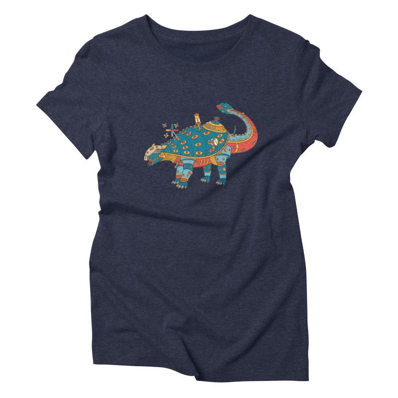 Dinosaur, cool art from the AlphaPod Collection Women's Triblend T-Shirt by AlphaPod