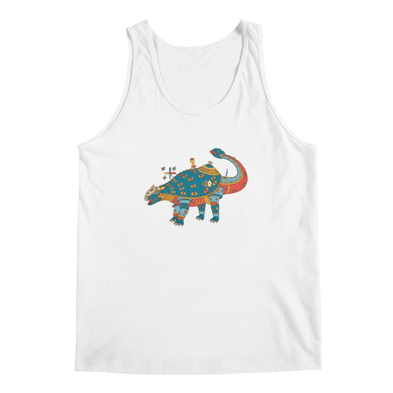 Dinosaur, cool art from the AlphaPod Collection Men's Tank by AlphaPod