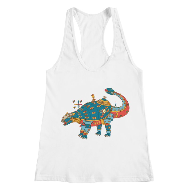 Dinosaur, cool art from the AlphaPod Collection Women's Racerback Tank by AlphaPod