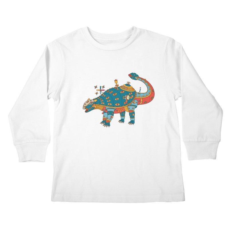 Dinosaur, cool art from the AlphaPod Collection Kids Longsleeve T-Shirt by AlphaPod
