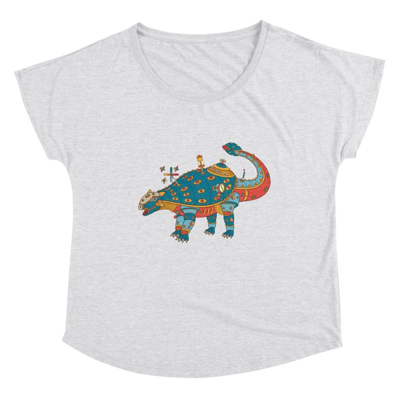 Dinosaur, cool art from the AlphaPod Collection Women's Scoop Neck by AlphaPod
