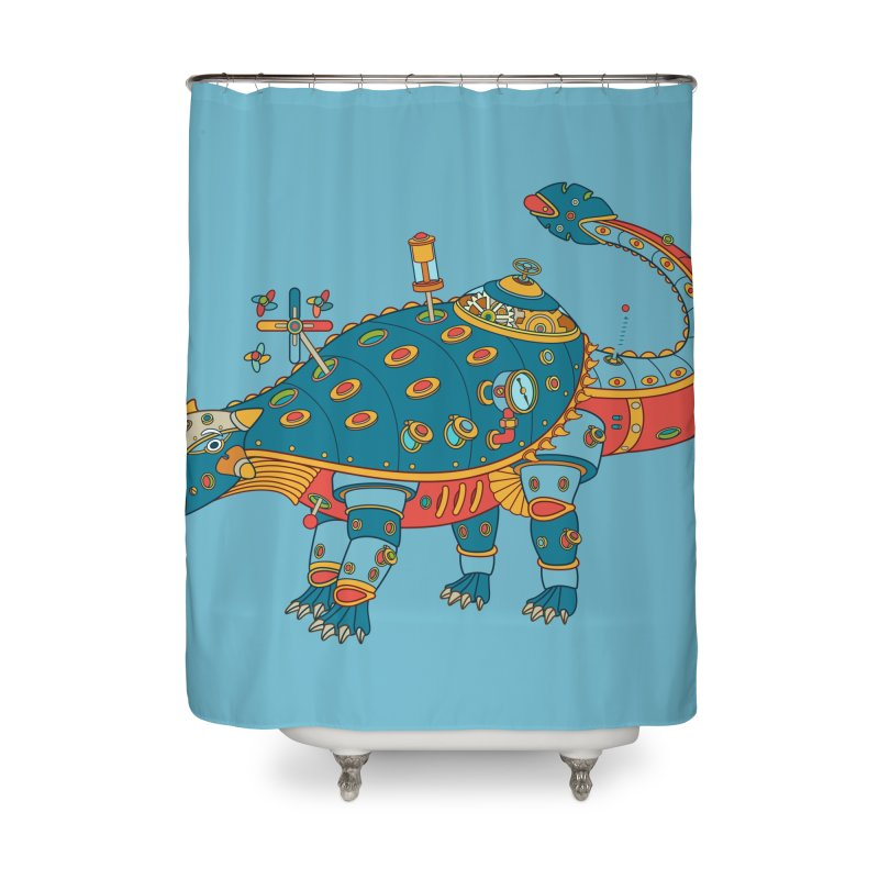 Dinosaur, cool art from the AlphaPod Collection Home Shower Curtain by AlphaPod