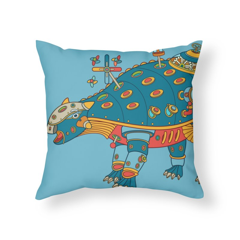 Dinosaur, cool art from the AlphaPod Collection Home Throw Pillow by AlphaPod