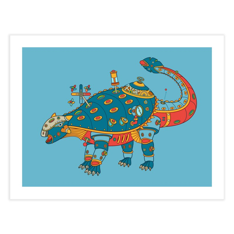 Dinosaur, cool art from the AlphaPod Collection Home Fine Art Print by AlphaPod