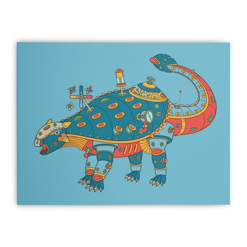 Dinosaur, cool wall art for kids and adults alike Home Stretched Canvas by AlphaPod