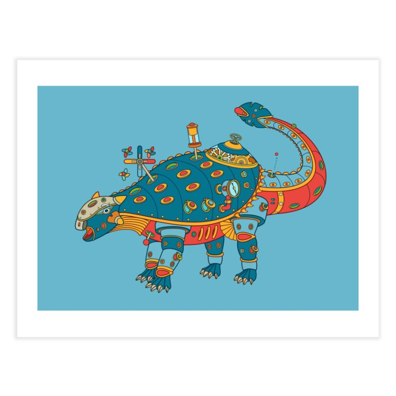 Dinosaur, cool art from the AlphaPod Collection Home Fine Art Print by AlphaPod