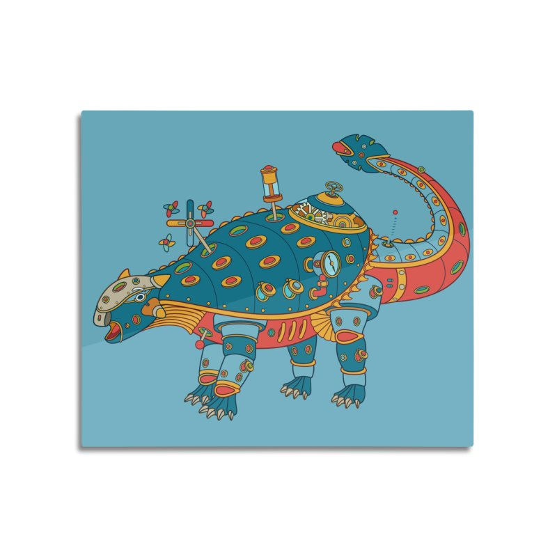 Dinosaur, cool art from the AlphaPod Collection Home Mounted Aluminum Print by AlphaPod