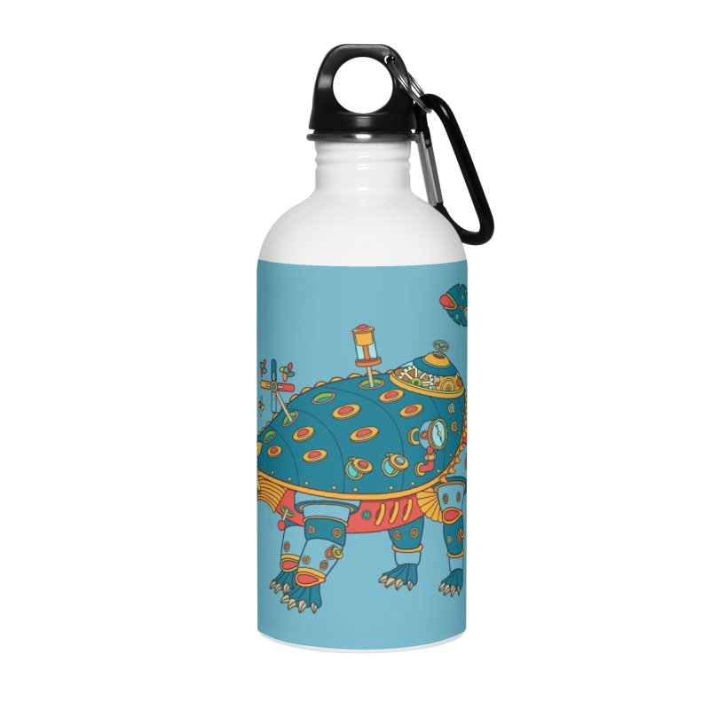 Dinosaur, cool art from the AlphaPod Collection Accessories Water Bottle by AlphaPod