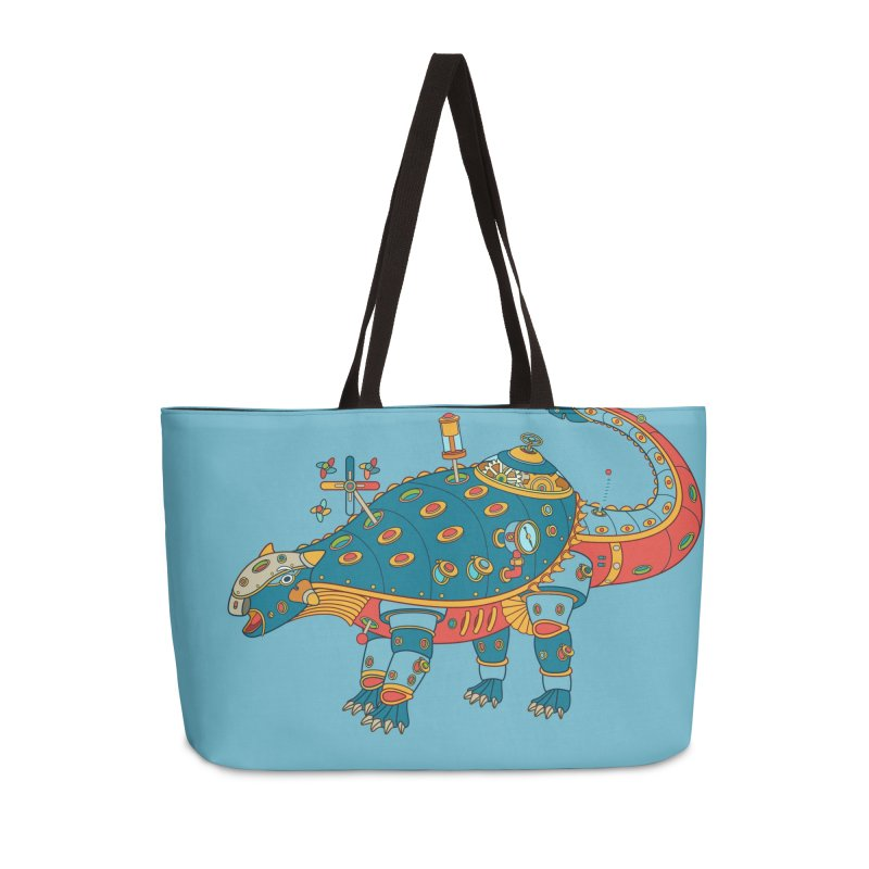 Dinosaur, cool art from the AlphaPod Collection Accessories Weekender Bag Bag by AlphaPod