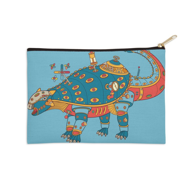Dinosaur, cool art from the AlphaPod Collection Accessories Zip Pouch by AlphaPod
