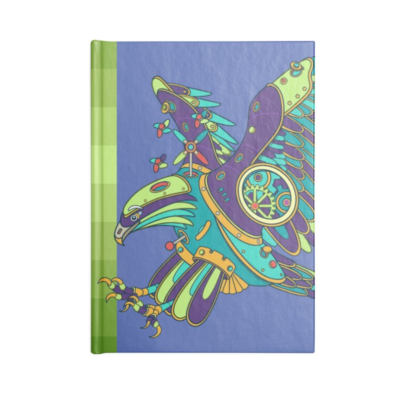 Eagle, cool art from the AlphaPod Collection Accessories Lined Journal Notebook by AlphaPod