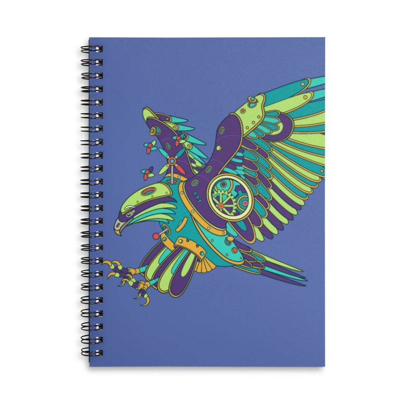 Eagle, cool art from the AlphaPod Collection Accessories Lined Spiral Notebook by AlphaPod