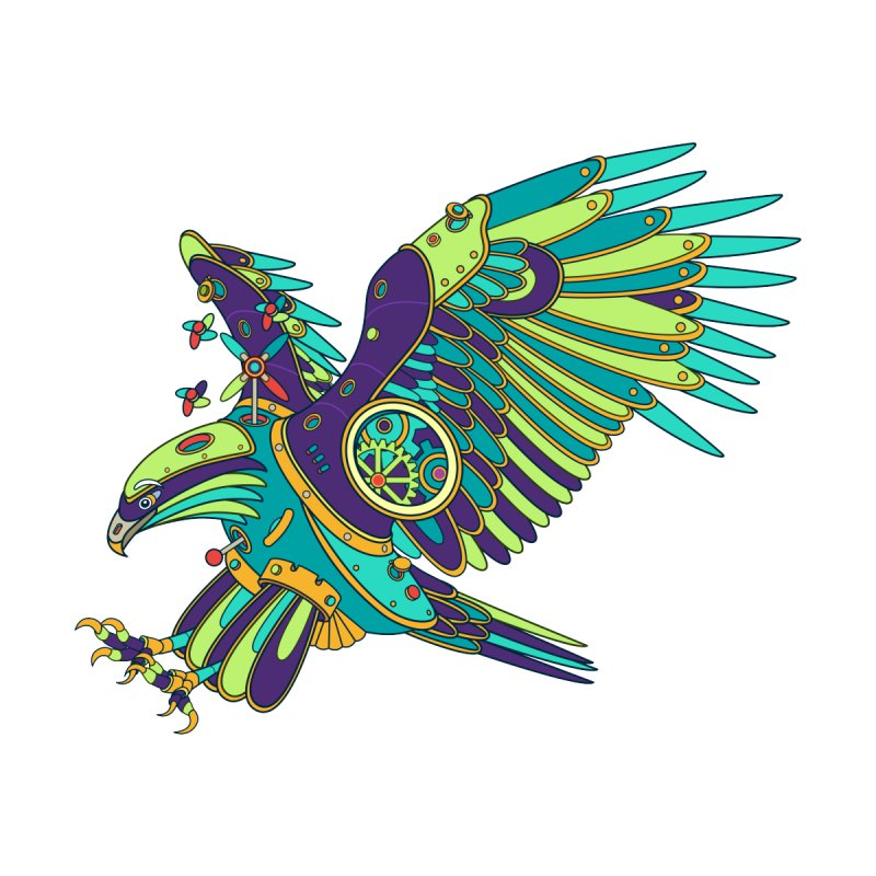 Eagle, cool art from the AlphaPod Collection Men's Tank by AlphaPod