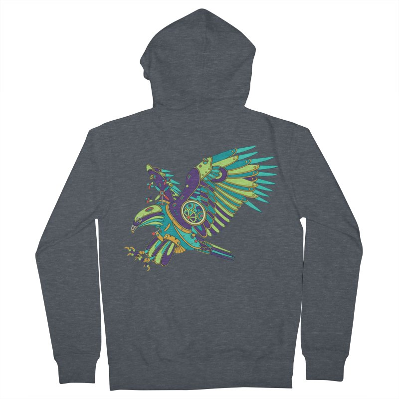 Eagle, cool art from the AlphaPod Collection Men's French Terry Zip-Up Hoody by AlphaPod