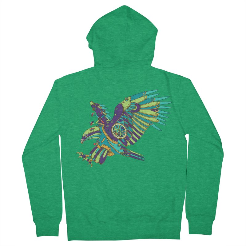 Eagle, cool art from the AlphaPod Collection Men's Zip-Up Hoody by AlphaPod