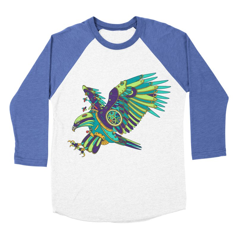 Eagle, cool art from the AlphaPod Collection Men's Baseball Triblend Longsleeve T-Shirt by AlphaPod