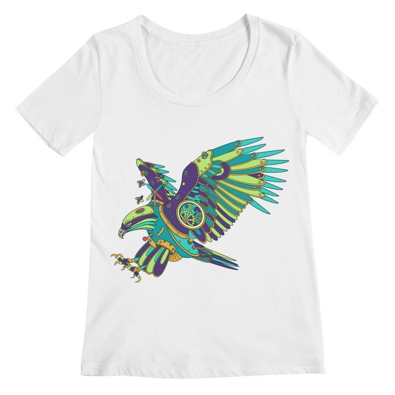 Eagle, cool art from the AlphaPod Collection Women's Regular Scoop Neck by AlphaPod