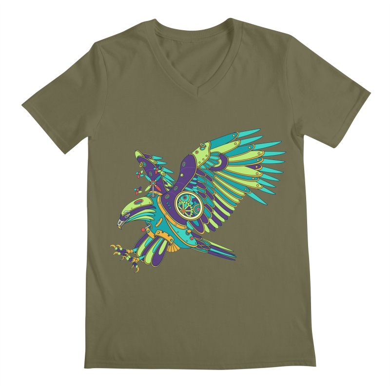 Eagle, cool art from the AlphaPod Collection Men's V-Neck by AlphaPod