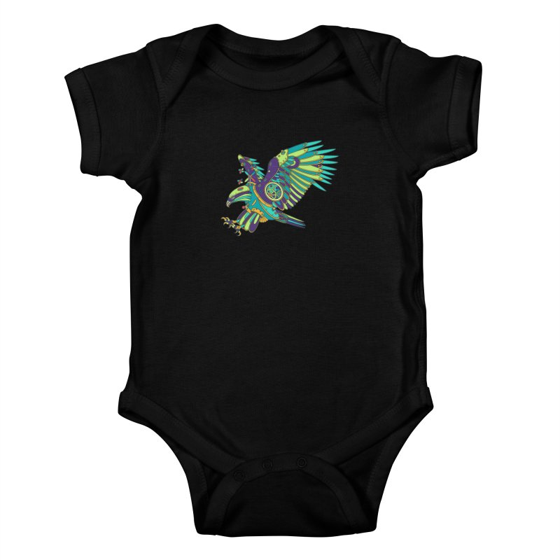 Eagle, cool wall art for kids and adults alike Kids Baby Bodysuit by AlphaPod
