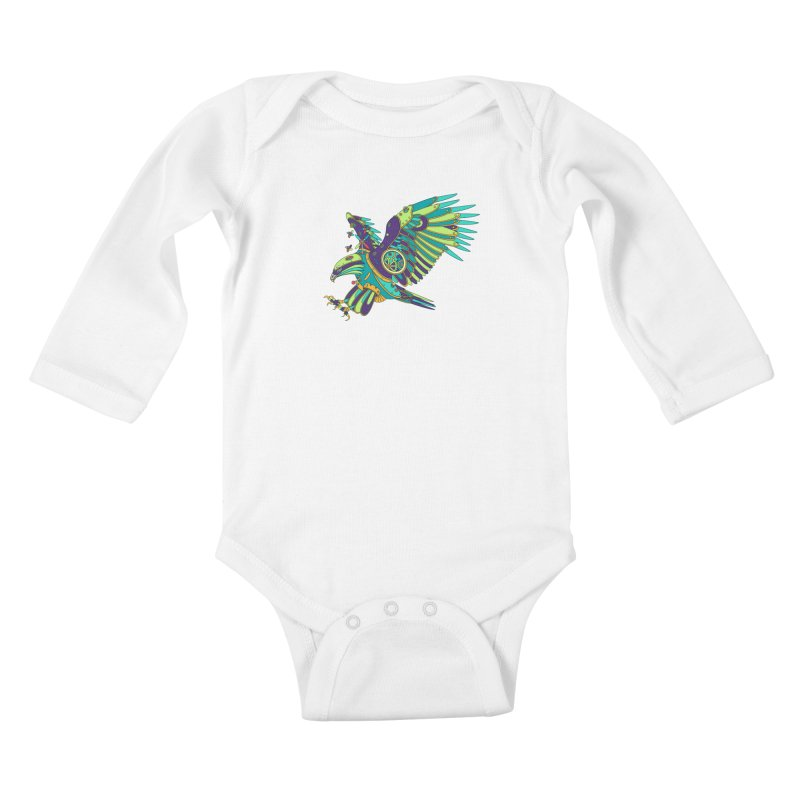Eagle, cool art from the AlphaPod Collection Kids Baby Longsleeve Bodysuit by AlphaPod