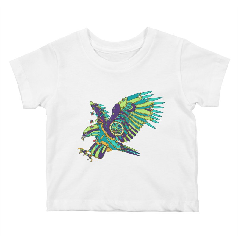 Eagle, cool art from the AlphaPod Collection Kids Baby T-Shirt by AlphaPod