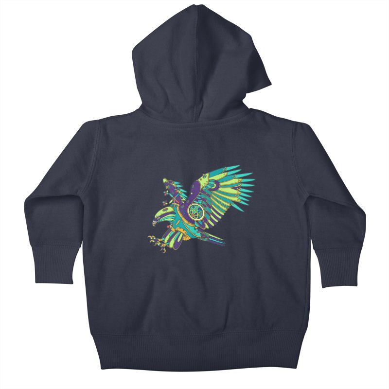 Eagle, cool art from the AlphaPod Collection Kids Baby Zip-Up Hoody by AlphaPod