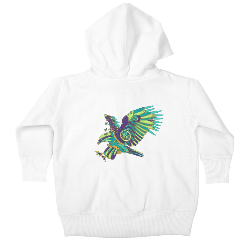 Eagle, cool wall art for kids and adults alike Kids Baby Zip-Up Hoody by AlphaPod
