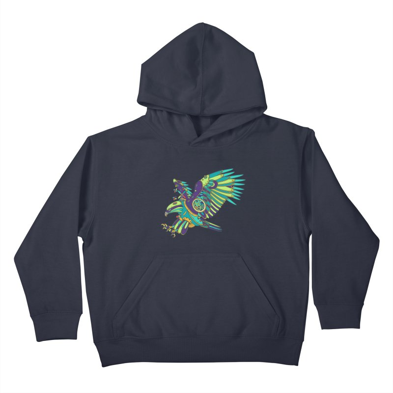 Eagle, cool art from the AlphaPod Collection Kids Pullover Hoody by AlphaPod