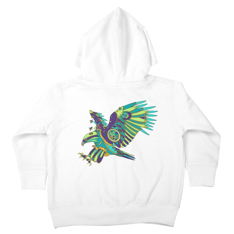 Eagle, cool art from the AlphaPod Collection Kids Toddler Zip-Up Hoody by AlphaPod