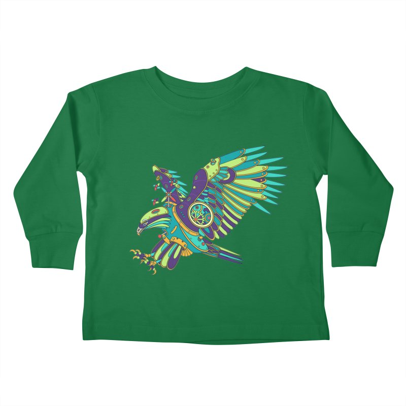 Eagle, cool art from the AlphaPod Collection Kids Toddler Longsleeve T-Shirt by AlphaPod