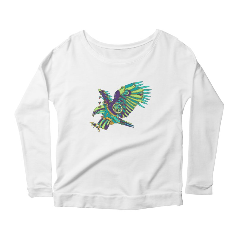 Eagle, cool art from the AlphaPod Collection Women's Scoop Neck Longsleeve T-Shirt by AlphaPod