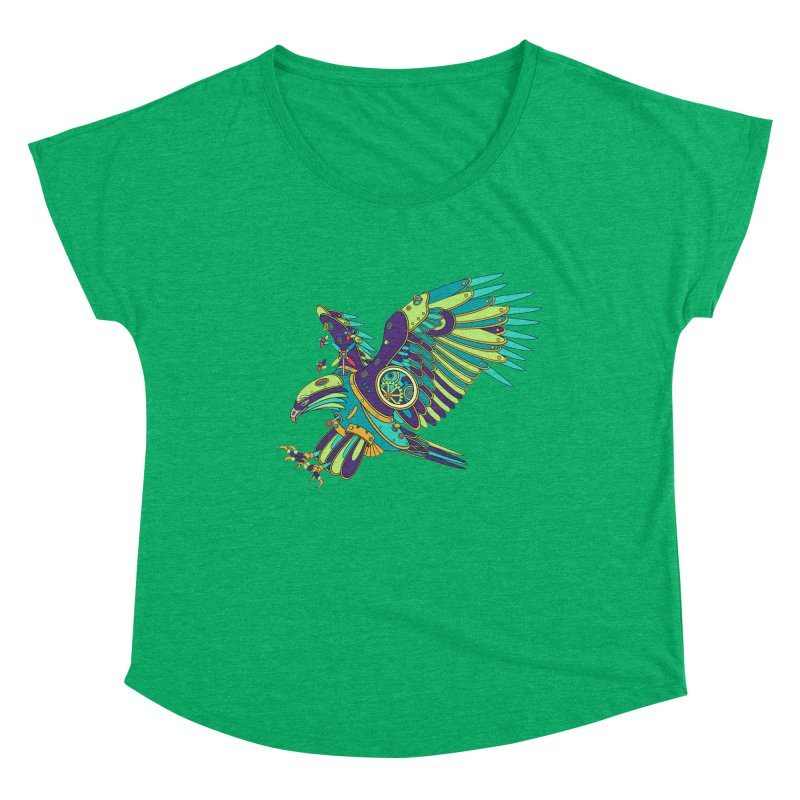 Eagle, cool art from the AlphaPod Collection Women's Scoop Neck by AlphaPod