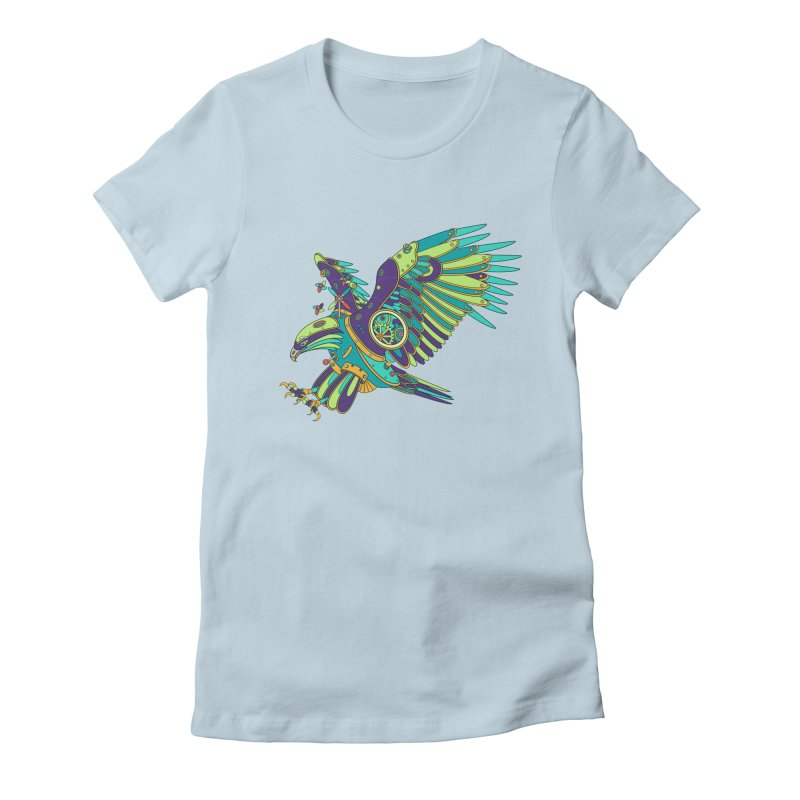 Eagle, cool art from the AlphaPod Collection Women's Fitted T-Shirt by AlphaPod