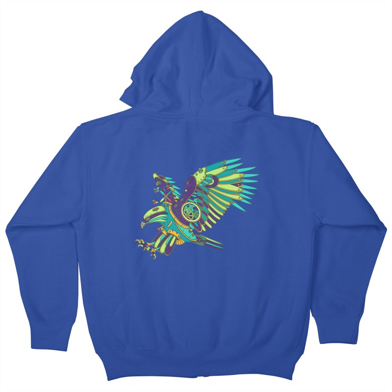 Eagle, cool wall art for kids and adults alike Kids Zip-Up Hoody by AlphaPod