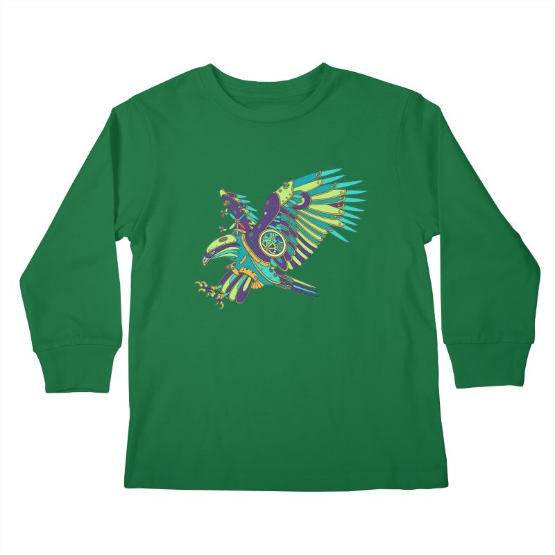 Eagle, cool art from the AlphaPod Collection Kids Longsleeve T-Shirt by AlphaPod
