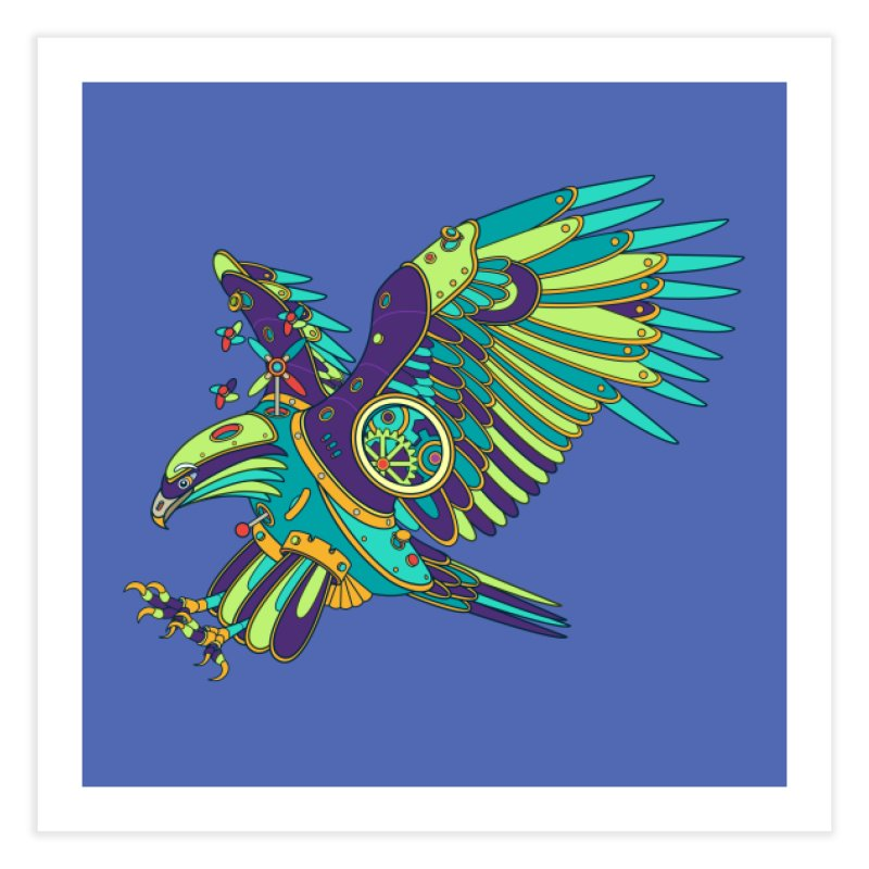 Eagle, cool art from the AlphaPod Collection Home Fine Art Print by AlphaPod