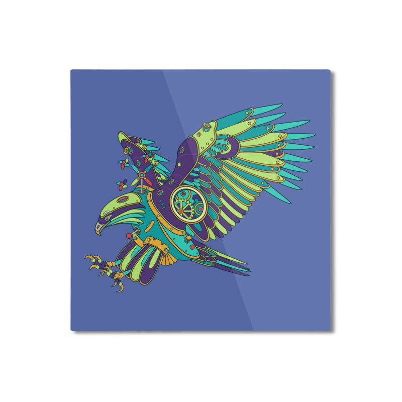 Eagle, cool wall art for kids and adults alike Home Mounted Aluminum Print by AlphaPod