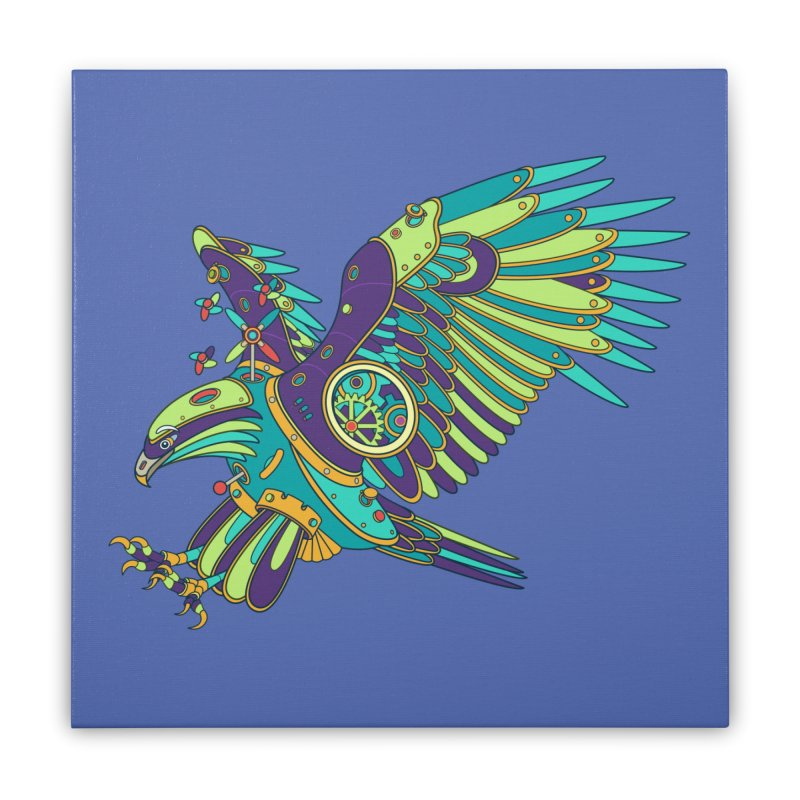 Eagle, cool wall art for kids and adults alike Home Stretched Canvas by AlphaPod