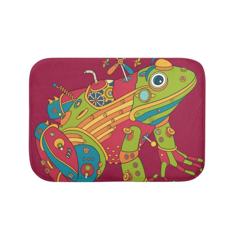 Frog, cool art from the AlphaPod Collection Home Bath Mat by AlphaPod