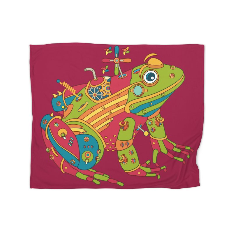 Frog, cool art from the AlphaPod Collection Home Blanket by AlphaPod